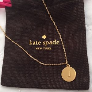 NWOT Kate Spade Initial Pendant Necklace. Letter J